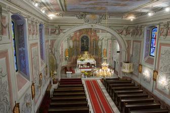 Kostol, kde bude svadobný obrad. Kostol Navštívenia Panny Márie v Liptovskom Hrádku.