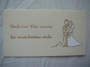 pozvánka na svatební hostinu