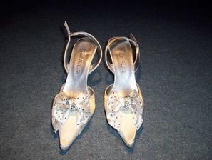 mé svatební botičky