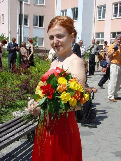 Magduška a Maťulko - tak to som ja s kytičkou na mojej promócii