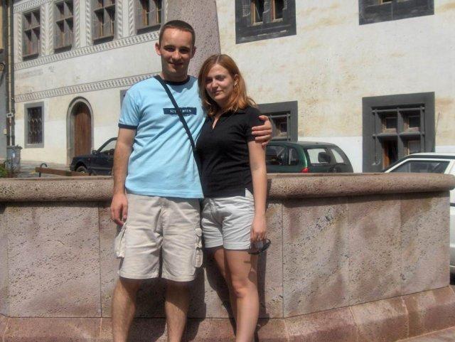 Magduška a Maťulko - tak tu sme už ako snúbenci na prechádzke
