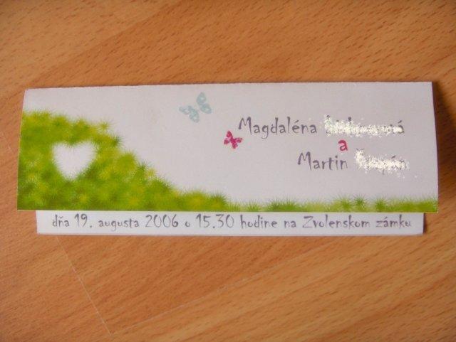 Magduška a Maťulko - prototyp oznamka :) bude z tvrdsieho papiera :)