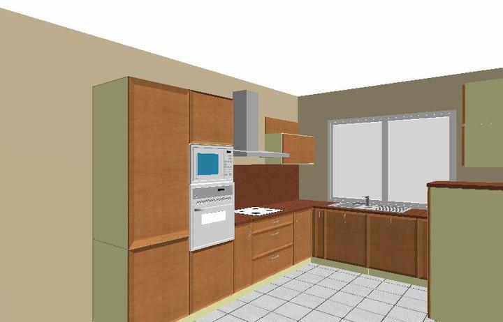 Navrhy kuchyn - 1. navrh - Mados