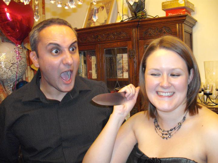 Engagement Party - Posed shot.....or is it??? Lol!