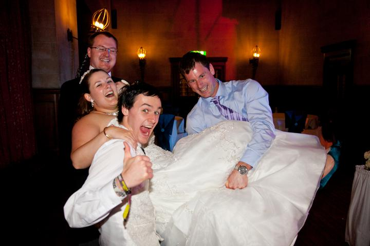 Chloé{{_AND_}}Steve - Me being lifted by my brother's (ushers) and my sister's boyfriend
