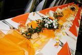 oranžová svatební tabule