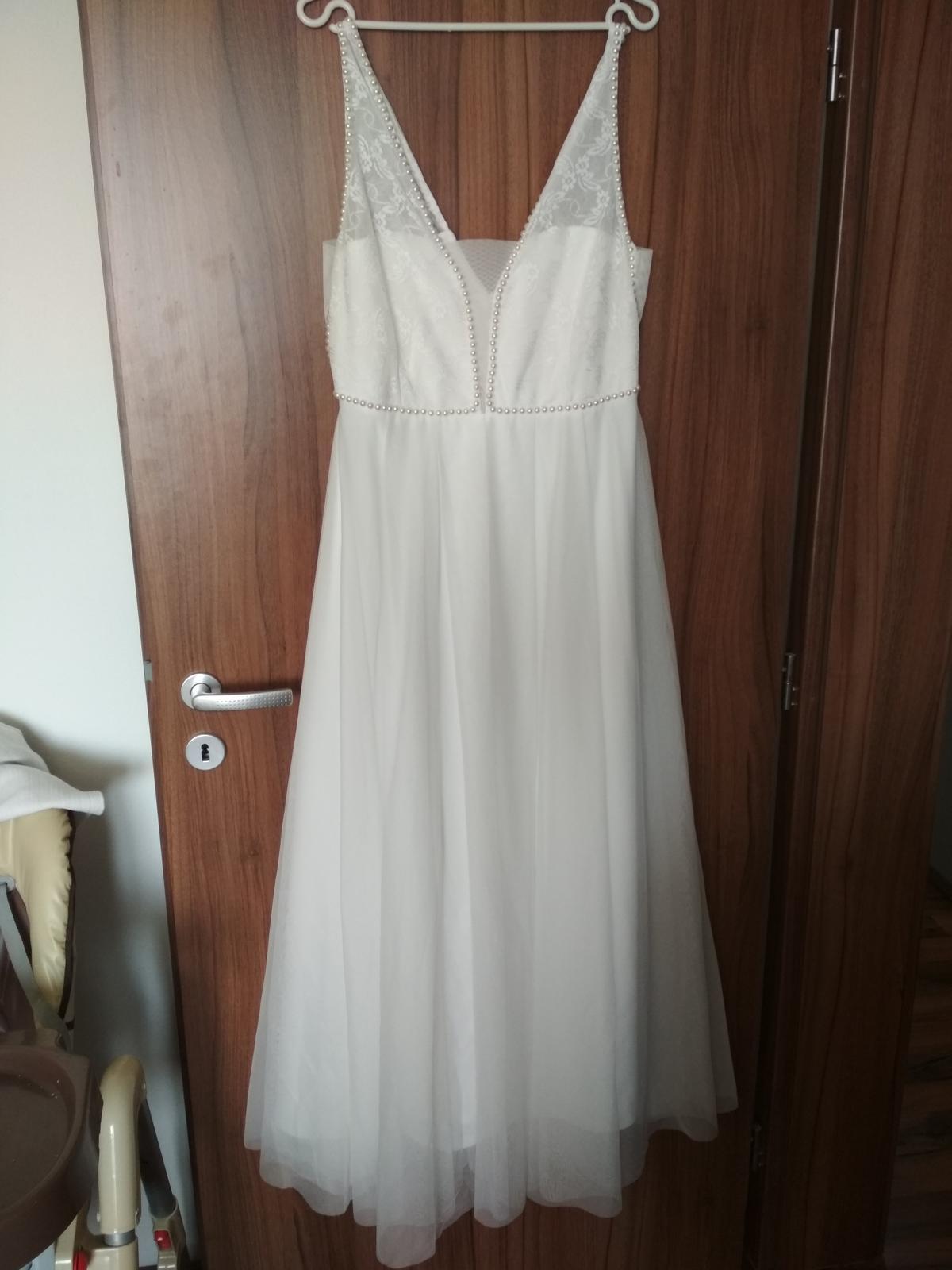 Biele večerné spoločenské/svadobné šaty - Obrázok č. 1