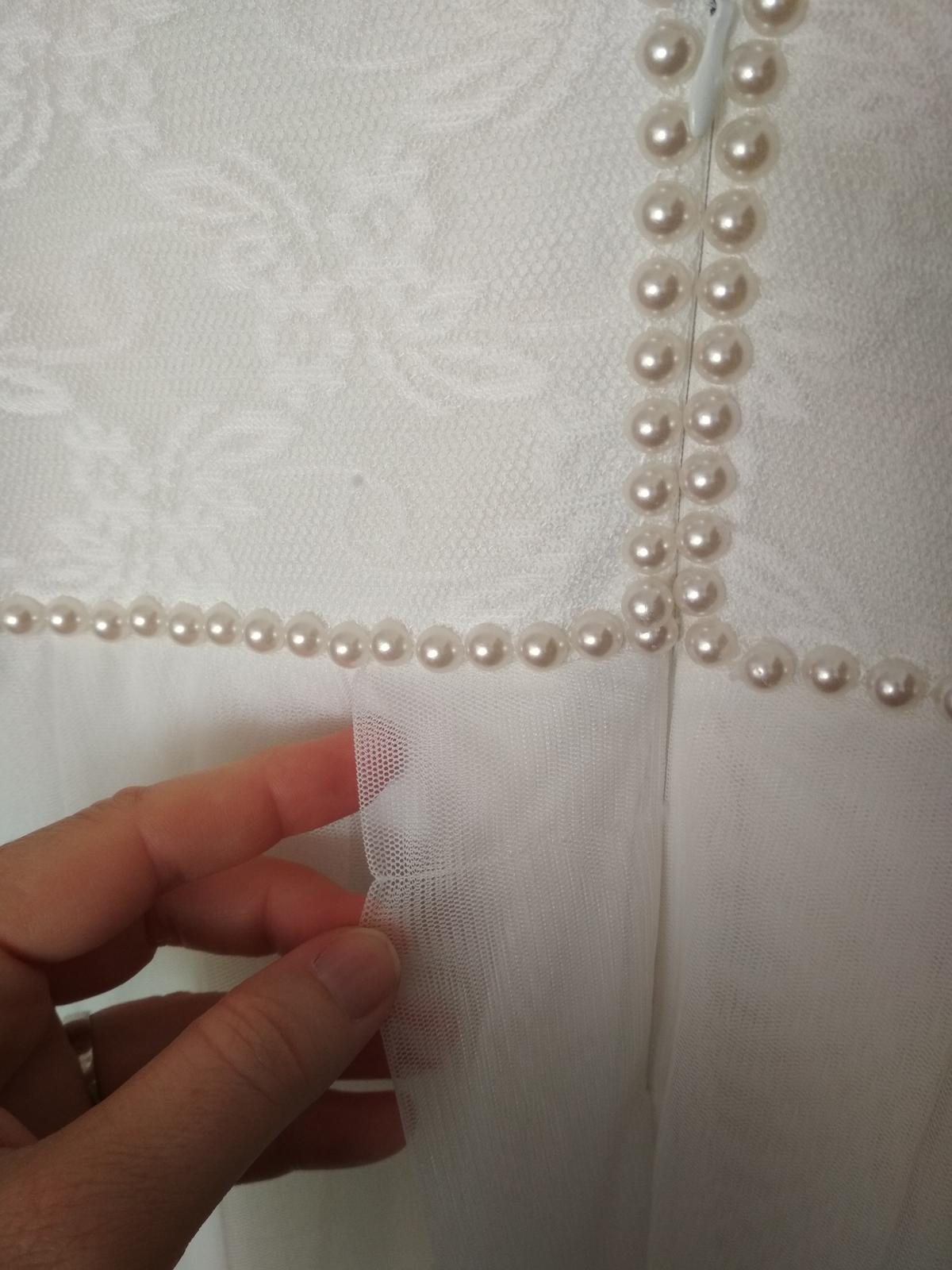 Biele večerné spoločenské/svadobné šaty - Obrázok č. 3