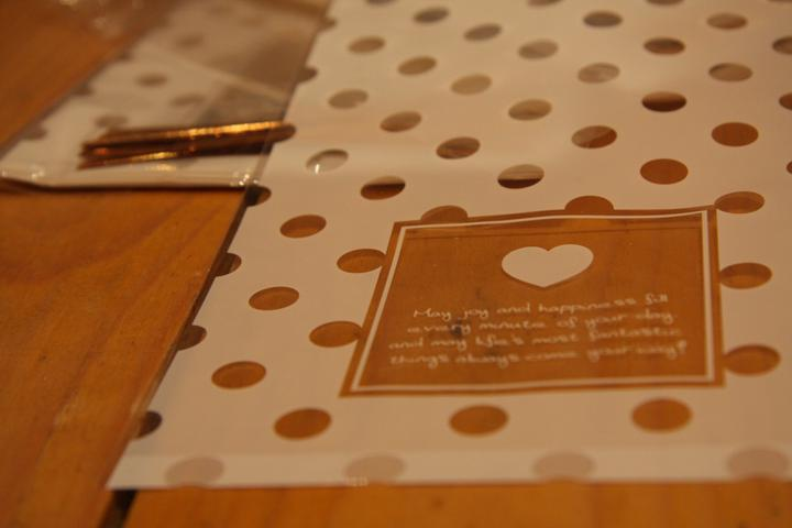 Naše malá puntíkovaná svatba - balíčky pro večerní hosty