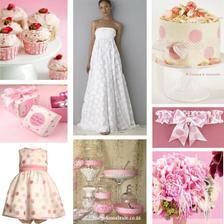Pastelově růžová s puntíky - hlavní motiv naší svatby :)