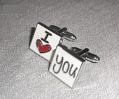 """Manžetové knoflíčky """"I love you"""","""