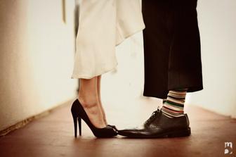Změnila bych ženichovy ponožky :))