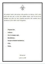 První návrh instrukcí (budou A3 čtvrtky černě olemované)