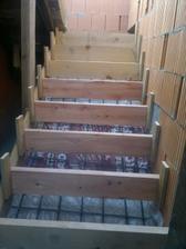 zašalované schodisko