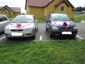 Dekorace na svatební auta,