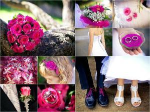 Tema nasej svatby - krasna syta ruzova farba