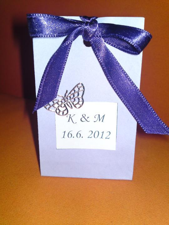 Co uz mame pripravene :) - aj sacky na darcek pre hosti je uz komplet :D a velka vdaka veve0312 za inspiraciu