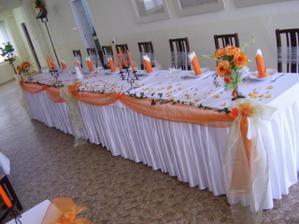 žeby takýto hlavný stôl?:)
