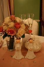 naša výzdoba na svadobnom stole