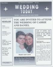 svatební noviny - ale pokud mají opravdu pobavit, tak to chce čas a nápady na jejich přípravu