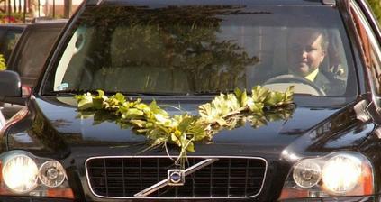 detail výzdoby auta i s řidičem - díky Péťo