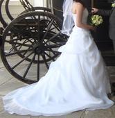 Svatební šaty s kruhovou spodnicí , 38
