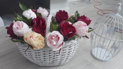 košíček z Tedi - kvety z KiK