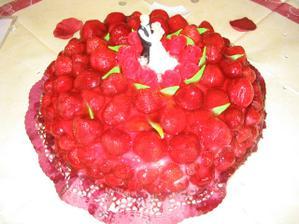 Svatební dort - pekla ho sama nevěsta