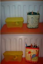 kelímek na tužky po taťkovi - PŘED a PO úpravě (ze zbytku bordury)