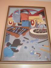 obraz po mamince (před lety malovala jedna známá)