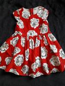 náherne červene šaty zo spodnicou vel.110, 110