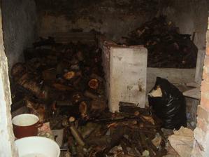 manža navozil dřevo do dřevníku- ještě naštípat :-(