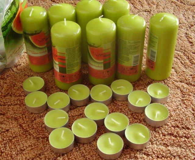 Zelená svatba - svíčičky
