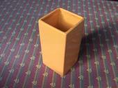 designová váza,květináč-čtvercová oranžová vázička,