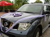 Výzdoba svadobného auta 6