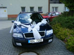 předloha pro ženichovo auto