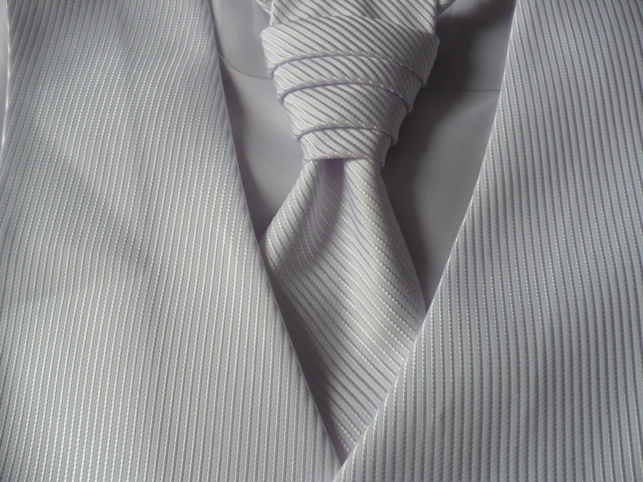 Pánska vesta s francúzskou kravatou - Obrázok č. 3