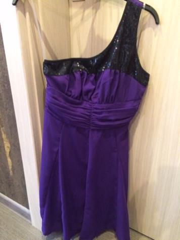 Fialovo-čierne šaty  - Obrázok č. 1