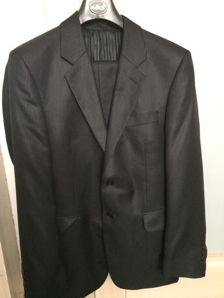 Pánsky čierny oblek - Obrázok č. 1