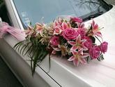 Ozdoba na auto Ružová ľalia