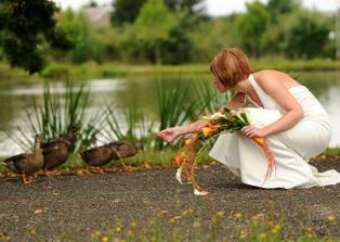 Kačkování u rybníka