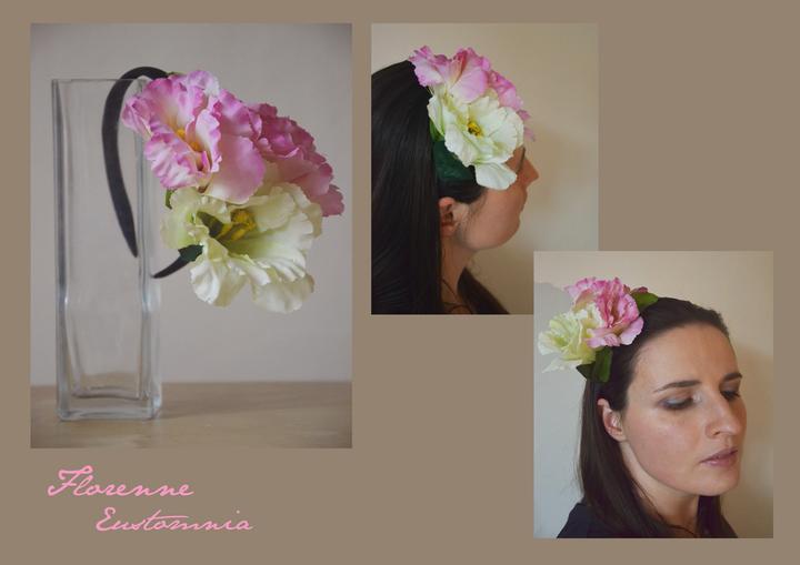 c6744a74df1 Originální květinové věnečky do vlasů - Eustoma