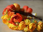 Oranžová s bobukami