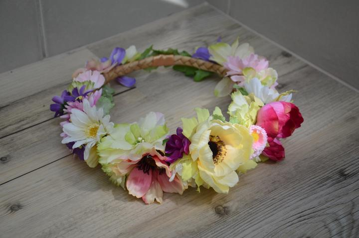 Bohaté květinové svatební čelenky -  b5a62cd0fb