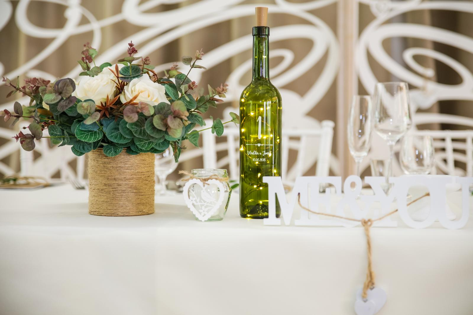 11 kytíc na svadobné stoly + darček - Obrázok č. 1