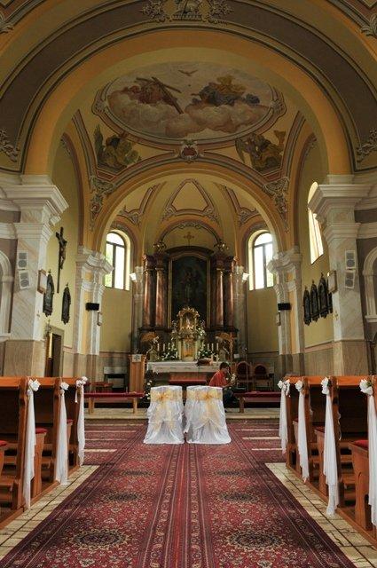 Darina Kiačiková{{_AND_}}Jozef Machara - kostol, kde sme mali sobáš