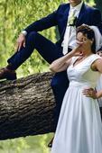 Svatební šaty 38 - 40 šité na míru, bílé, 38
