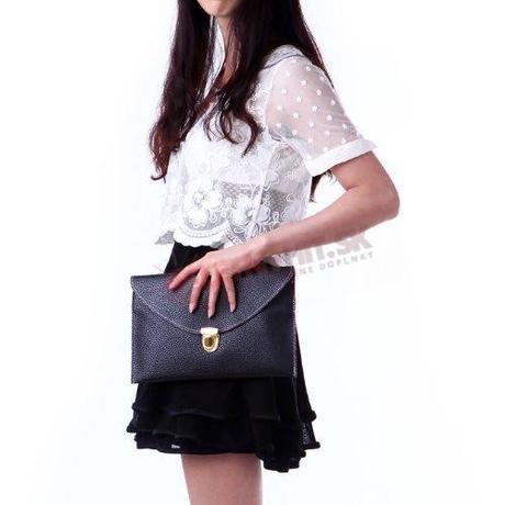 Čierna listová kabelka - Obrázok č. 2