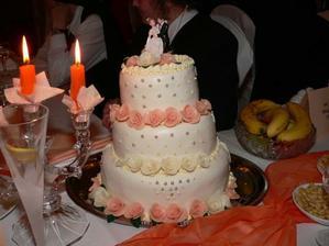 nasa menej statocna svadobna torticka po polnoci :((