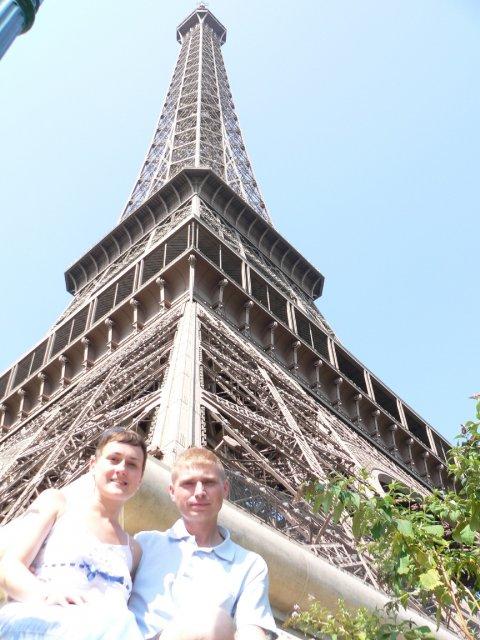 Mirka a Peťko - svadobná cesta - Paríž - tento zaber sa nam vydaril...teda, bol dost riskantny ;))